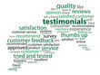 TESTIMONIALS Tag Cloud (customer satisfaction experience)