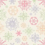 Christmas seamless pattern in boho style poster