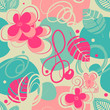 Retro stylish seamless pattern