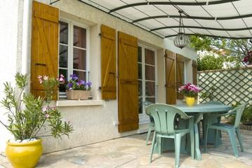 terrasse avec pergola