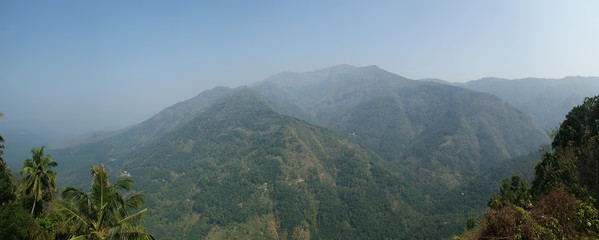 Panoramic views of the mountains and the valley, India