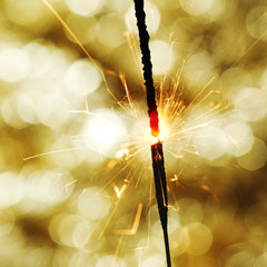 sparkler on bokeh background