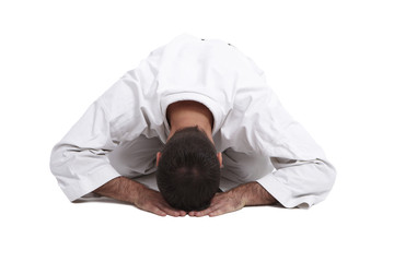 Karate, Verbeugung, Begrüßung, weiß 5