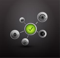 Vector login background