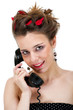 Pretty young female on phone