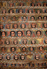 bahar bahir dar ethiopia bright colour painted church ceiling