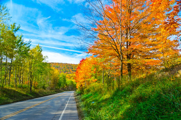 Scenic drive along Route 6 in Pennsylvania