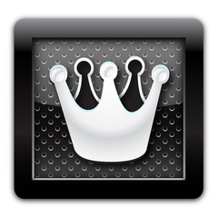 Crown metal icon