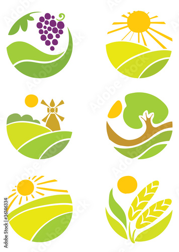 "Collection of logos - ""Agriculture"""