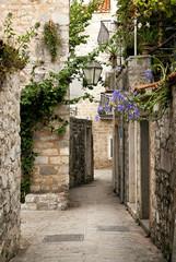 budva old town street, montenegro © TravelPhotography