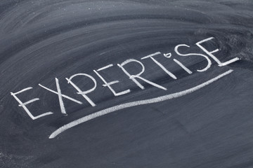 expertise word on blackboard