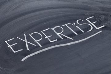 expertise word on blackboard
