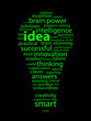 IDEAS Tag Cloud (answers solutions eureka innovation light bulb)