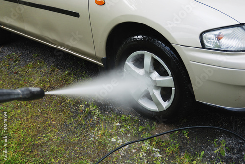 car wash with pressure outdoor