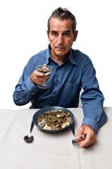 homme aimant l 'argent