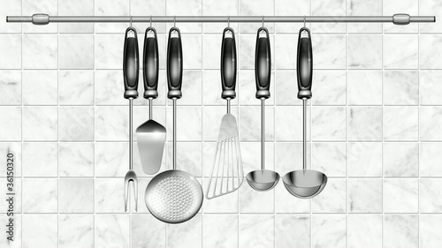 Italian cuisine set Kitchen utensils video