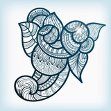 vector ethnic doodle design element
