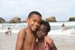 sur la plage de Biarritz