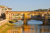 Ponte Vecchio over Arno river, Florence, Italy poster