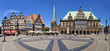 Leinwanddruck Bild - Rathausplatz Bremen