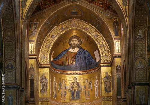 The Christ Pantokrator. Cathedral-Basilica of Monreale