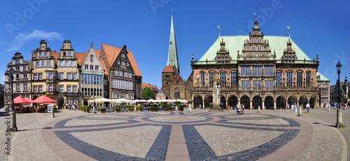 Leinwanddruck Bild Rathausplatz Bremen