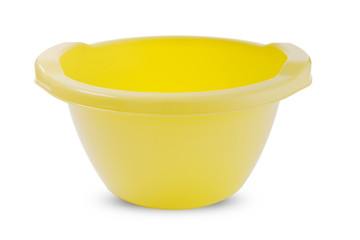 Yellow plastic basin