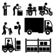 Logistic Warehouse Delivery Shipping Icon Pictogram