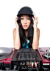 Female DJ posing for a photo