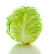 Image of white cabbage head isolated on white