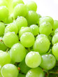 Image of green grape background with water drops