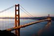 Golden Gate Bridge in San Francisco just before sunrise