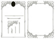 set of barocco elements for creating borders and frames