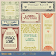 vintage style labels on different topics