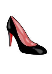 Grafik schwarzer High Heels