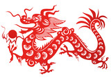 Chinese dragon. Symbol of the 2012 year