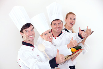 Successful restaurant staff