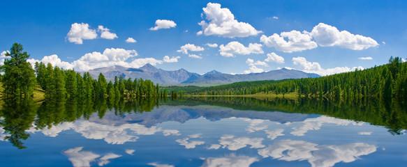 Panorama of lake, Altai, Russia