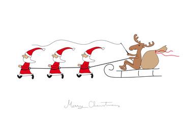 Die Weihnachtsmänner müssen laufen