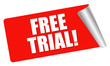 red sticker - free trial