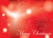 Merry christmas background red