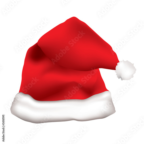 Red father christmas cap