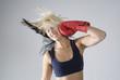 Self punishment woman boxer