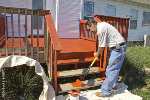Painter Painting Deck