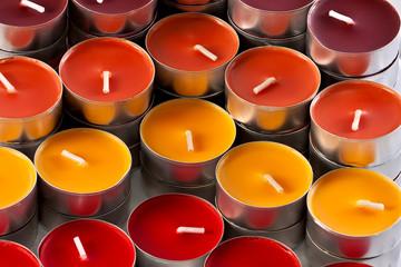 colored candles, closeup