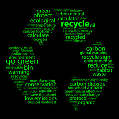 RECYCLE Tag Cloud (go green ecology environment waste reduction)