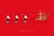 Die Weihnachtsmänner beeilen sich