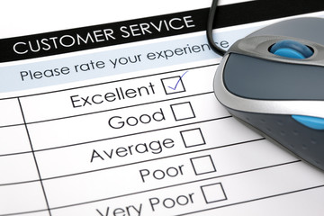 Online customer service satisfaction survey
