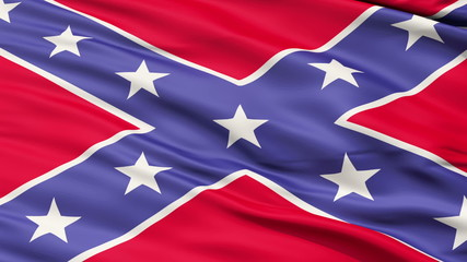 Confederate Battle Flag Close Up,seamless looping