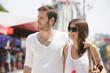 Man walking with his arm around a woman, Paris, Ile-de-France, France